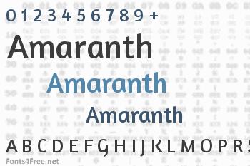 Amaranth Font