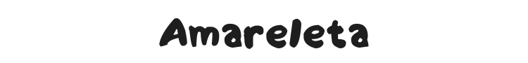 Amareleta Font Preview