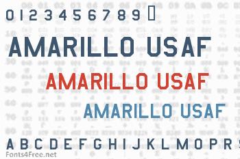 Amarillo USAF Font