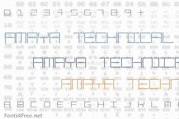 Amaya Technical Font