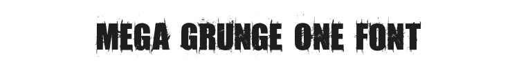 Amaz Mega Grunge One Font Preview