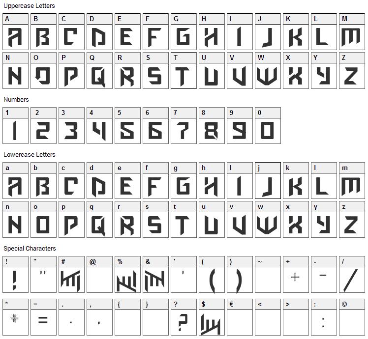 Amaz Obitaem Ostrov Font Character Map