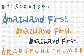 AmazHand First Font