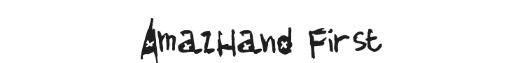 AmazHand First Font Preview