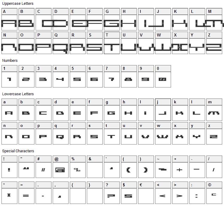 AmazXakep Font Character Map