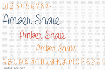 Amber Shaie Font