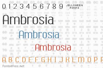 Ambrosia Font