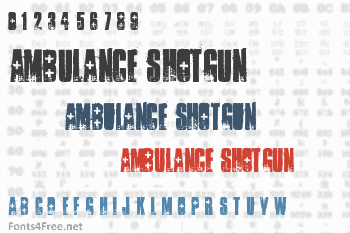 Ambulance Shotgun Font