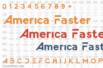 America Faster Font