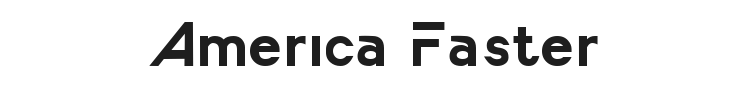 America Faster Font Preview