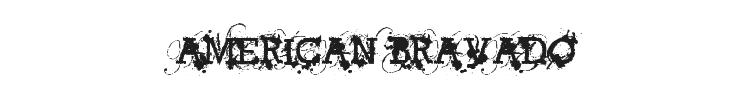 American Bravado Font Preview