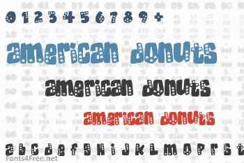 American Donuts Font