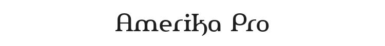 Amerika Pro Font Preview