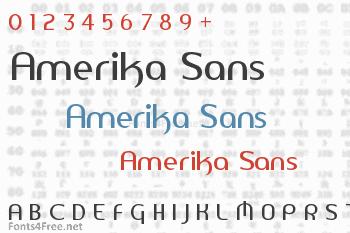 Amerika Sans Font