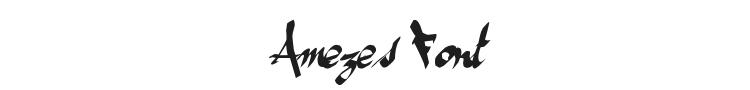 Amezes Font Preview