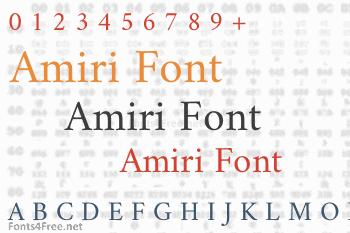 Amiri Font