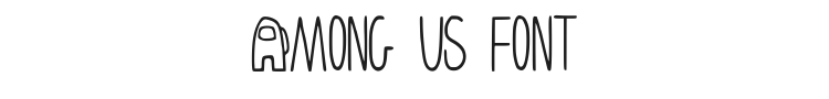 Among Us Font Preview