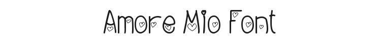 Amore Mio Font Preview