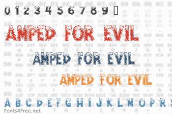 Amped For Evil Font