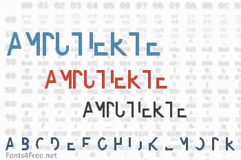 Amputierte Font