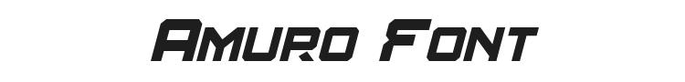 Amuro Font Preview