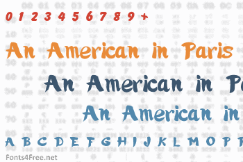 An American in Paris Font