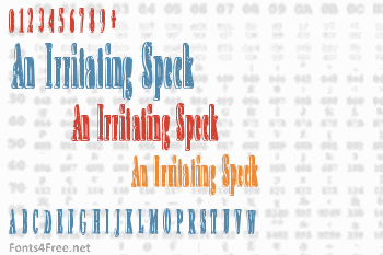 An Irritating Speck Font
