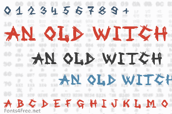 An Old Witch Font