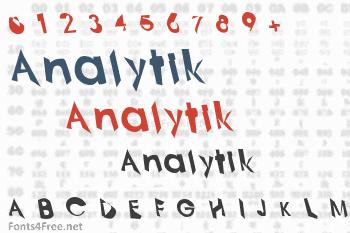 Analytik Font