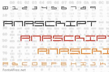 AnaScript Font