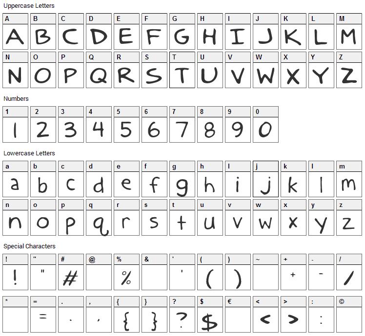 Anatolia Classic Font Character Map