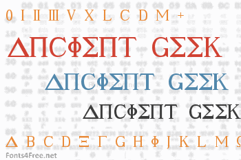Ancient Geek Font