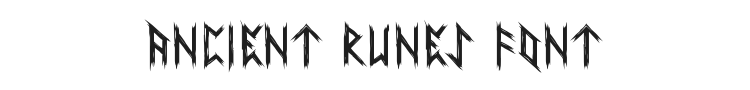 Ancient Runes Font Preview