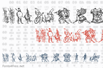 Ancient Warriors and Weapons Font