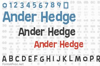 Ander Hedge Font