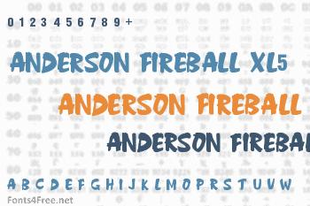 Anderson Fireball XL5 Font