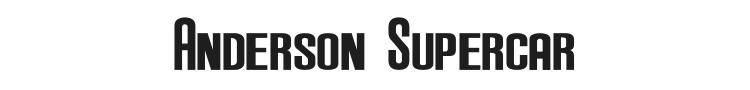 Anderson Supercar Font