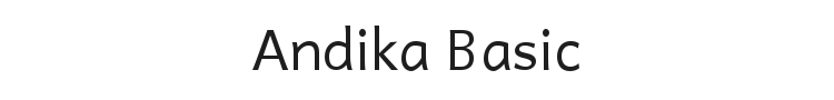 Andika Basic Font Preview