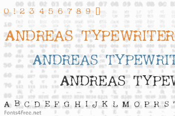 Andreas Typewriter Font