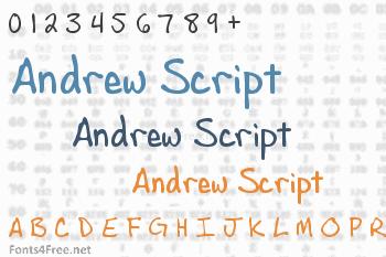 Andrew Script Font