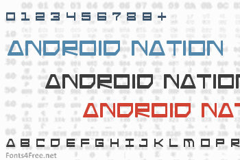 Download Android Nation Font Download - Fonts4Free
