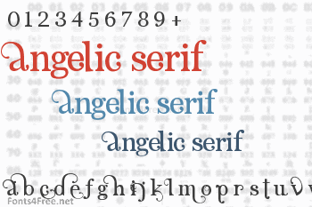 Angelic Serif Font