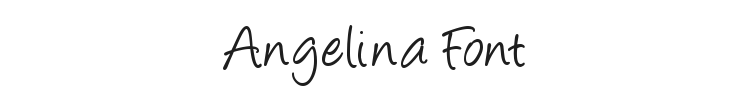 Angelina Font Preview