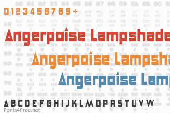 Angerpoise Lampshade Font