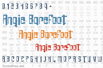 Angie Barefoot Font