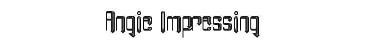 Angie Impressing Font
