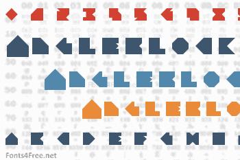 Angleblock Font