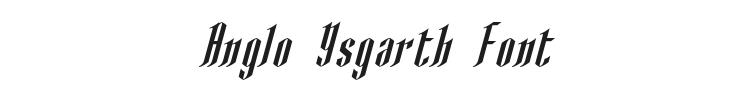 Anglo Ysgarth Font Preview
