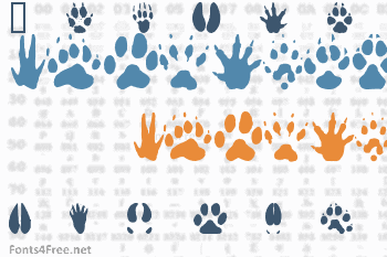 Animal Tracks Font
