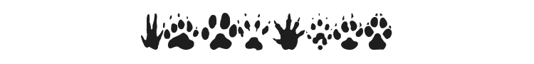 Animal Tracks Font Preview